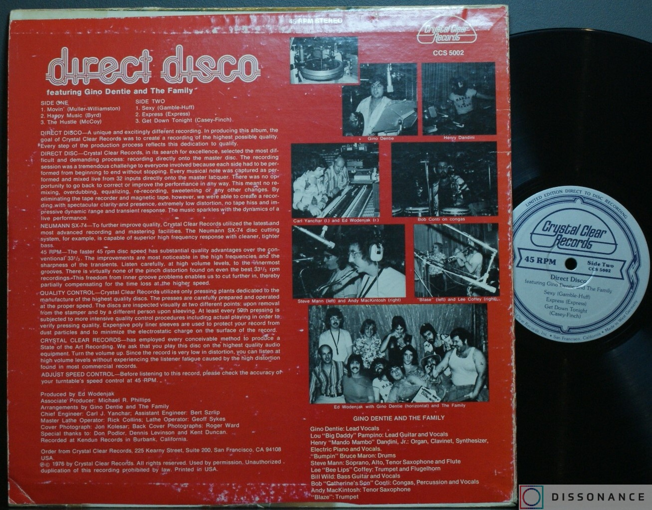 Виниловая пластинка Gino Dentie And The Family - Direct Disco (1976) - фото 1