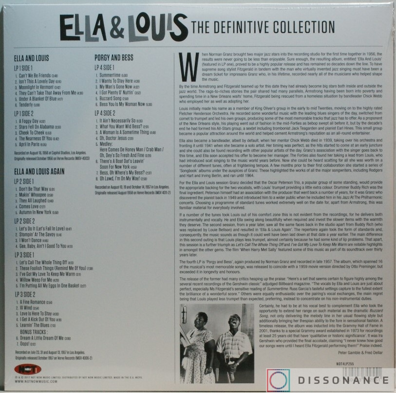 Виниловая пластинка Ella Fitzgerald And Louis Armstrong - Ella And Louis Definitive Collection (2018) - фото 1